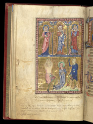 St Catherine, St Mary Magdalen, St Margaret and St Stephen, In The Egerton Psalter